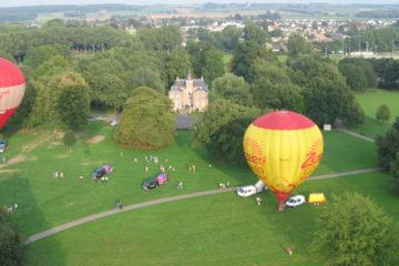 Zespri heteluchtballon stijg op vanaf Geusselt Maastricht