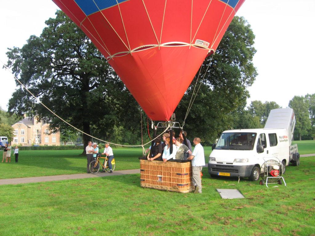 Luchtballon klaar om te starten