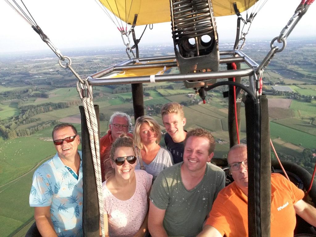 Selfie in de luchtballon