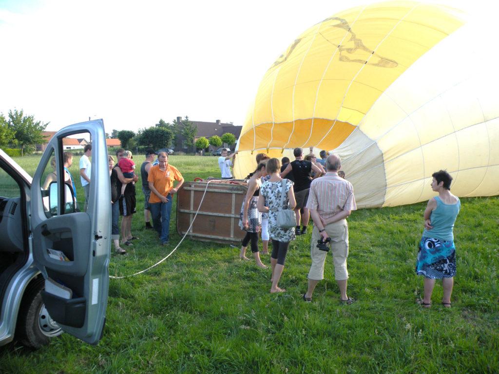 luchtballon start in sint gerlach landing